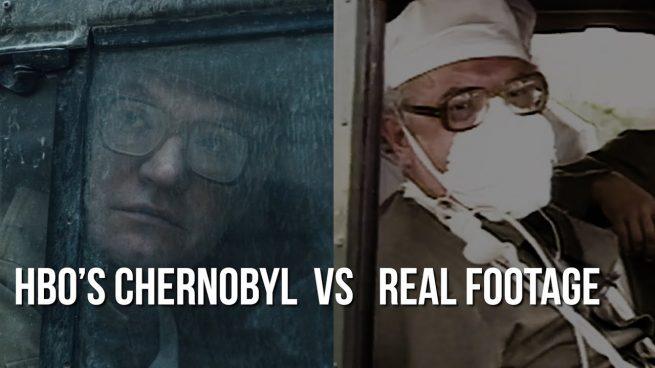 Cenas reias x cenas de Chernobyl da HBO